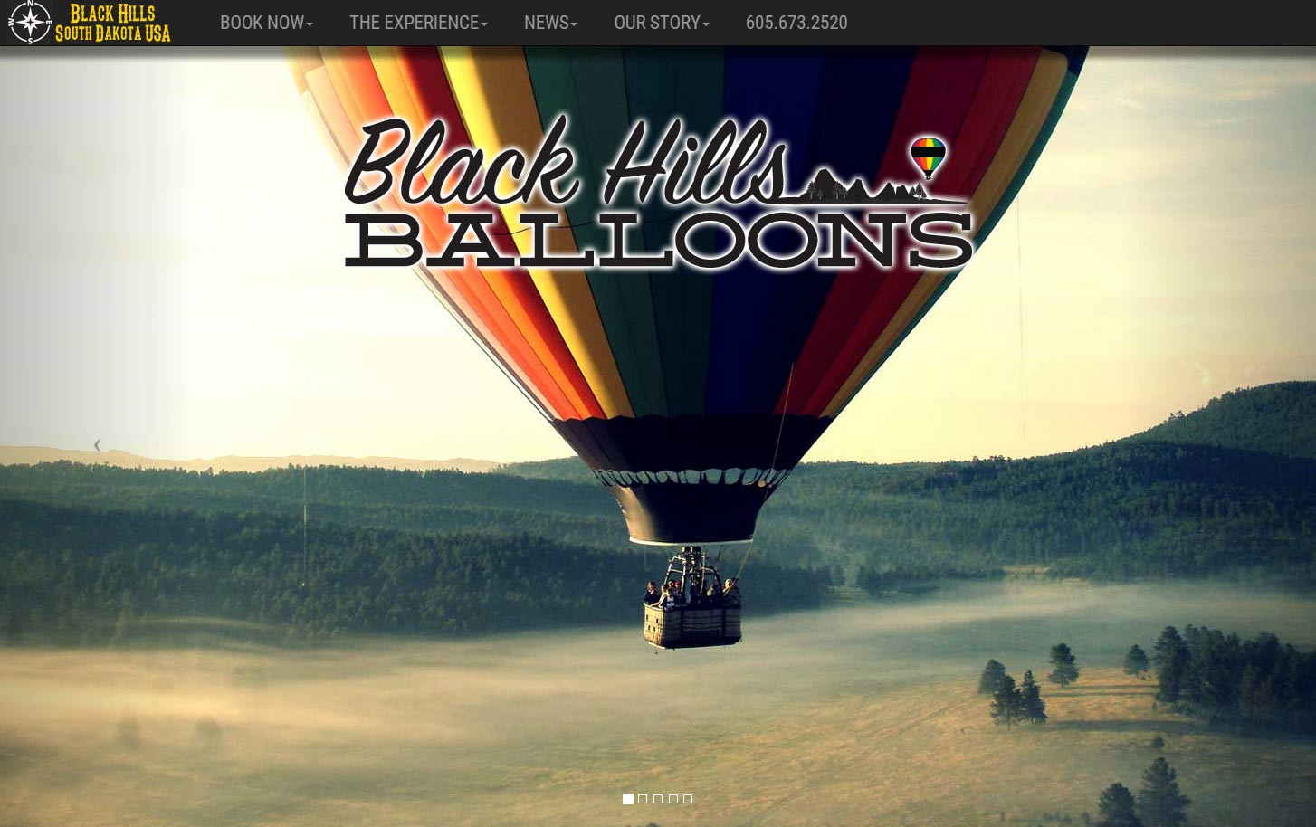 Black Hills Balloons Website Example