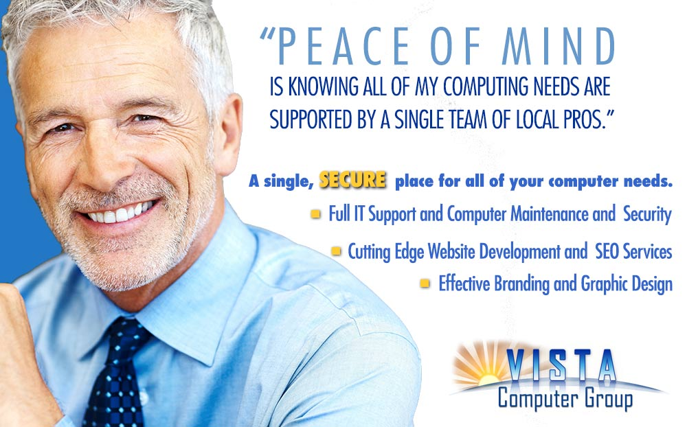 Vista Computer Group, repair, virus removal, websites, network, software